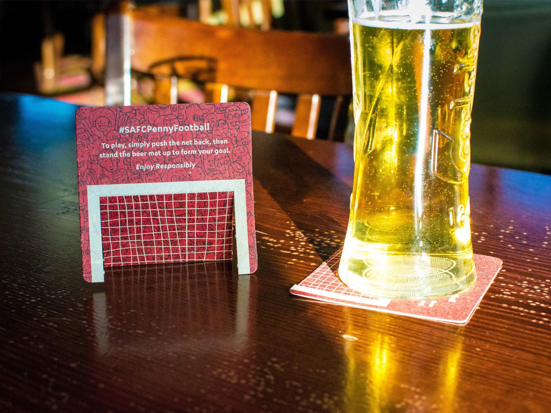 Penny Football Beer Mat